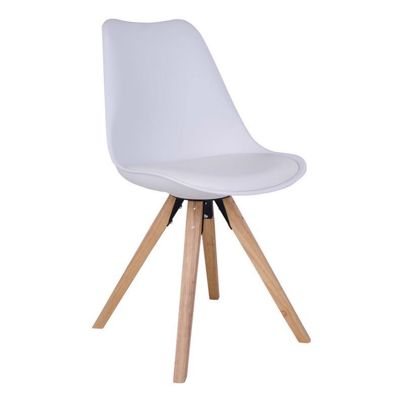 hvide stole Mille stol hvid med massive ben hvide stole