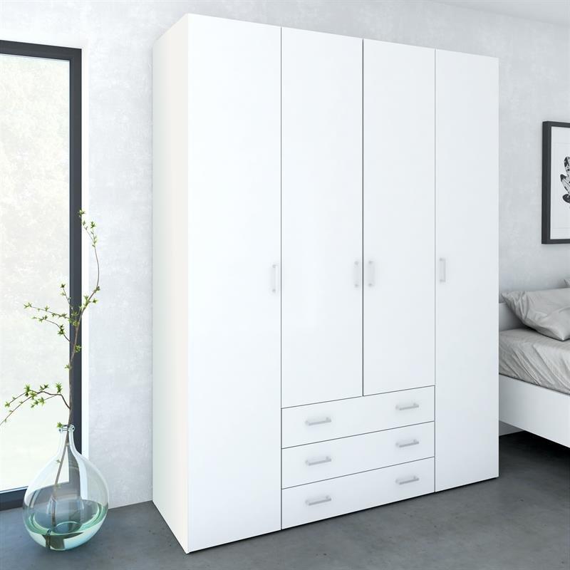 Smart Garderobeskab med 4 låger og 3 skuffer KK28