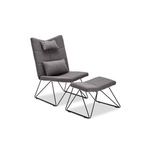 Como Lounge Chair - Grå