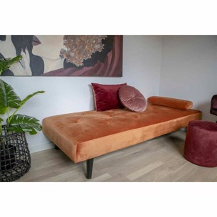 Daybed i velour.