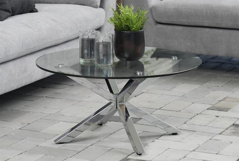 Meget Heaven sofabord i stål og glas TP46