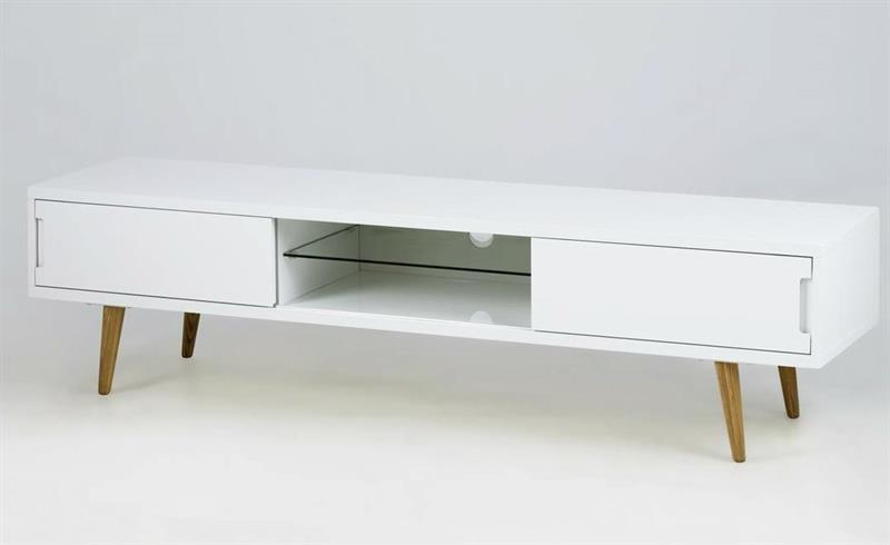 ella tv bord i hvid h jglans p askeben. Black Bedroom Furniture Sets. Home Design Ideas