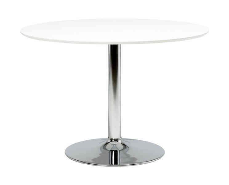 Opdateret Ize - rundt spisebord i hvid/krome EA04