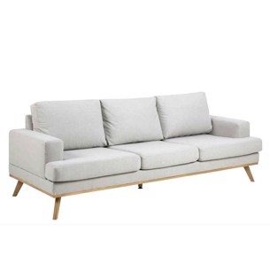 NORWICH 3 personers sofa - lysegrå stof