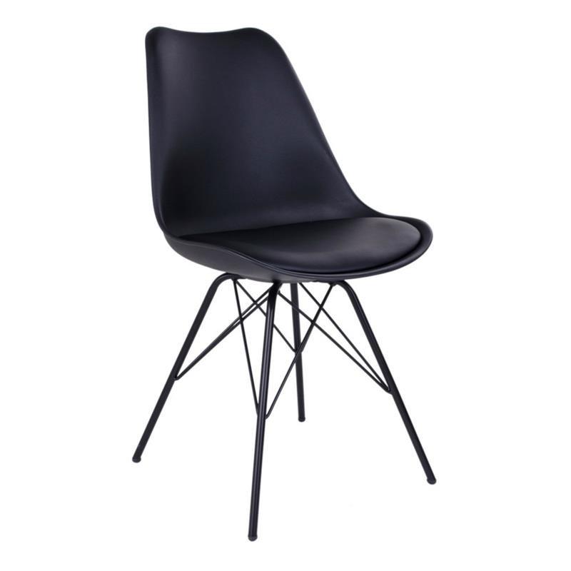 skalstol Oslo skalstol med sort stel skalstol