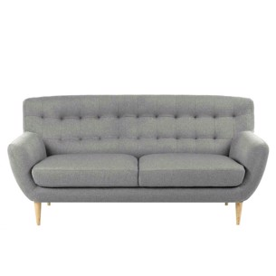 Oswald sofa i retrodesign med knapper
