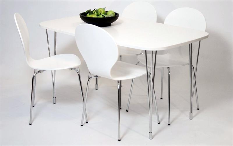 Billigt hvidt bord i samme design som en elipse